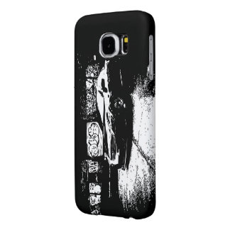 Infiniti G37 Coupe with Graffiti background Samsung Galaxy S6 Cases