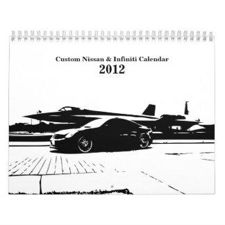 Infiniti Nissan custom car Calendar 2012