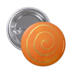 Infinito anaranjado del remolino del oro de los chapa redonda 2,5 cm