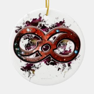 Infinito cósmico ornamento para arbol de navidad