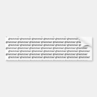 Infinito de la gramática x pegatina para auto