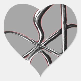 Infinito de Ohio Pegatina En Forma De Corazón