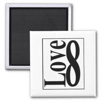 Infinito del amor (8) imán de frigorifico