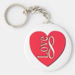 Infinito del amor del corazón (8) llavero