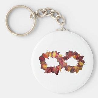 Infinito del otoño llavero redondo tipo pin