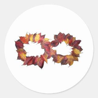 Infinito del otoño pegatina redonda