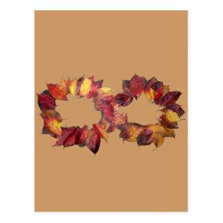 Infinito del otoño postales