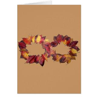 Infinito del otoño tarjeta de felicitación