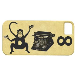 Infinito divertido de la máquina de escribir del funda para iPhone 5 barely there