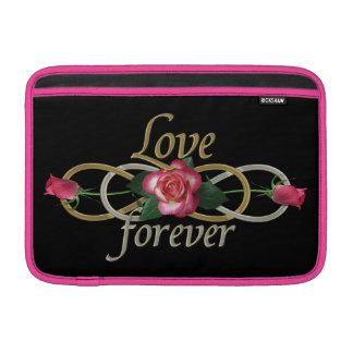 Infinito doble - amor de los rosas para siempre funda para macbook air