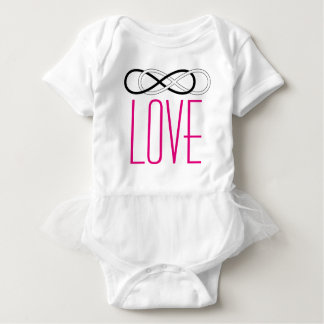 Infinito doble del símbolo - negro y blanco + amor playeras