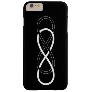 Infinito doble del símbolo - negro y blanco funda de iPhone 6 plus barely there