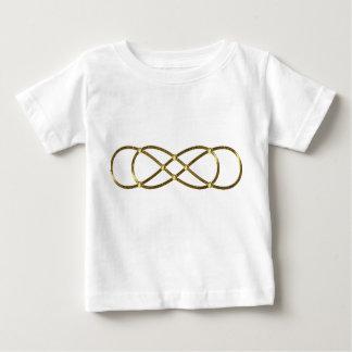 Infinito doble del símbolo - oro antiguo t-shirts