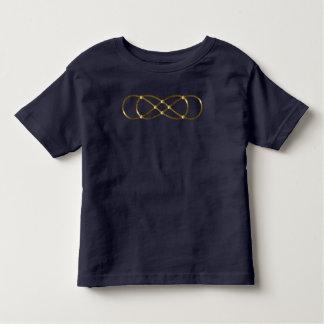 Infinito doble del símbolo - oro antiguo remera
