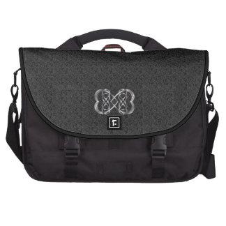 Infinito doble entrelazado 1 de los corazones - bo bolsas para portátil