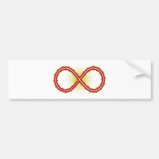 Infinito medido infinity measured pegatina para auto