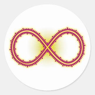 Infinito medido infinity measured pegatina redonda