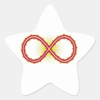 Infinito medido infinity measured pegatina en forma de estrella