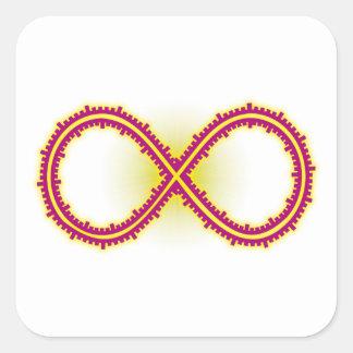 Infinito medido infinity measured pegatina cuadrada