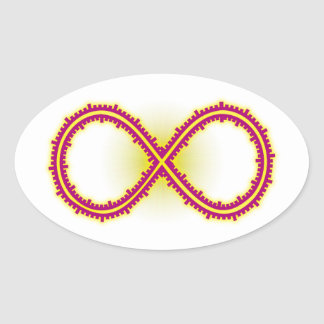 Infinito medido infinity measured pegatina ovalada