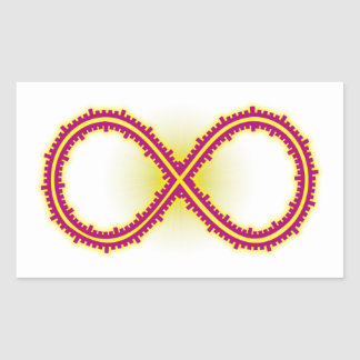 Infinito medido infinity measured pegatina rectangular