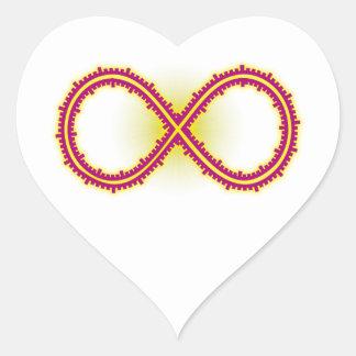 Infinito medido infinity measured pegatina en forma de corazón