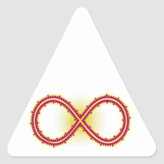 Infinito medido infinity measured pegatina triangular