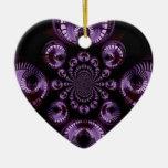 Infinito púrpura ornamento para arbol de navidad