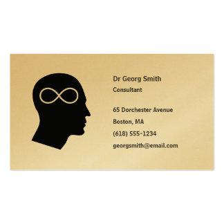 Infinito - tarjeta de visita del científico