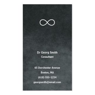 Infinito - tarjeta de visita elegante del