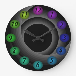 Infinity 3D Floating Colors Contemporary Designer Large Clock