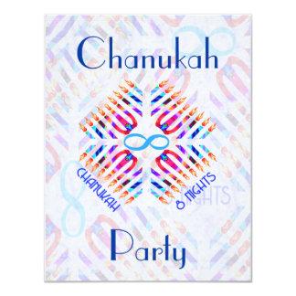 Infinity 8 Nights Chanukah Party Invitations