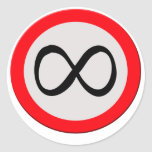 Infinity ahead classic round sticker