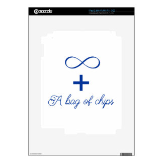 Infinity and a bag of chips. decal for iPad 2