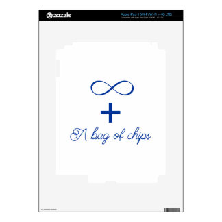 Infinity and a bag of chips. skins for iPad 3