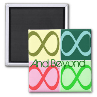 Infinity and Beyond 2 Inch Square Magnet