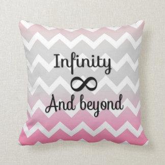 Infinity and Beyond Chevron Throw Pillow