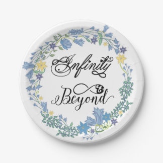 Infinity and Beyond Floral Wreath Paper Plates