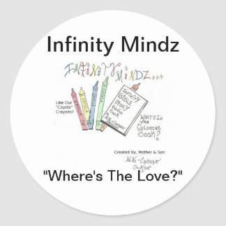 Infinity Bible Story Coloring Book Classic Round Sticker