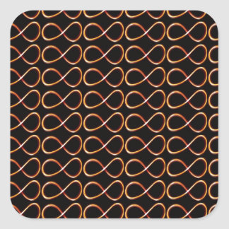 INFINITY BLACK and GOLD Decorative Graphic GIFTS Sticker