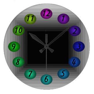 Infinity Box 3D Illusion Sci Fi Futuristic Clocks