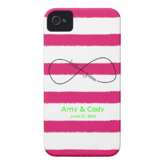 Infinity Bride & Groom Wedding Customizable iPhone 4 Case-Mate Case