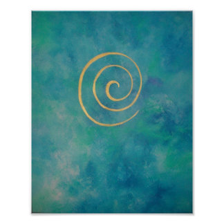 """""""Infinity - Bright Blue"""" by Philip Bowman Print"""