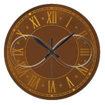 Infinity   Brown Geek Gifts Large Clock