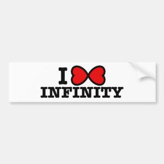 Infinity Car Bumper Sticker
