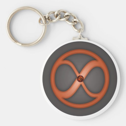 Infinity circle forever symbol key chain