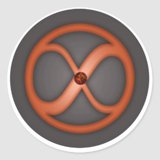 Infinity circle forever symbol sticker
