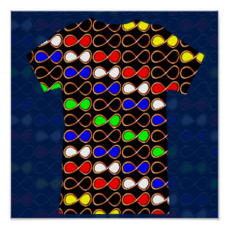 INFINITY Colorful Symbol - HAPPY ART Display GIFTS Poster