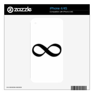 Infinity Decal For iPhone 4