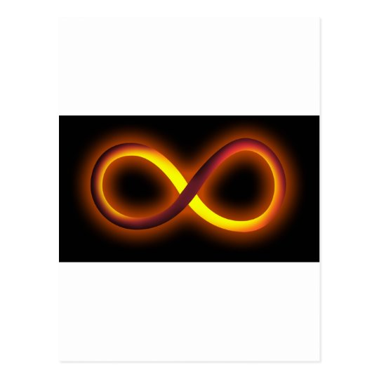 infinity design postcard